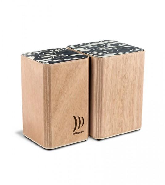 WBS200 Wooden Bongos mit Klettsystem