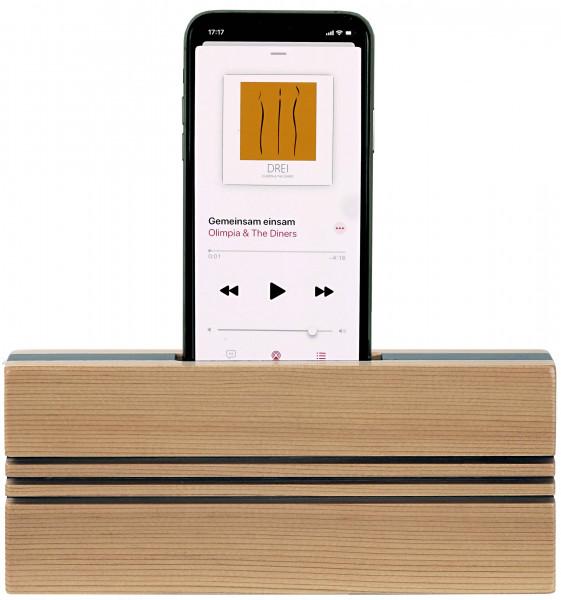 TPU-RZ Smartphone Akustik Lautsprecher upright Rot-Zeder
