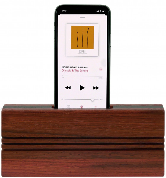 TPU-PD Smartphone Akustik Lautsprecher upright Padouk