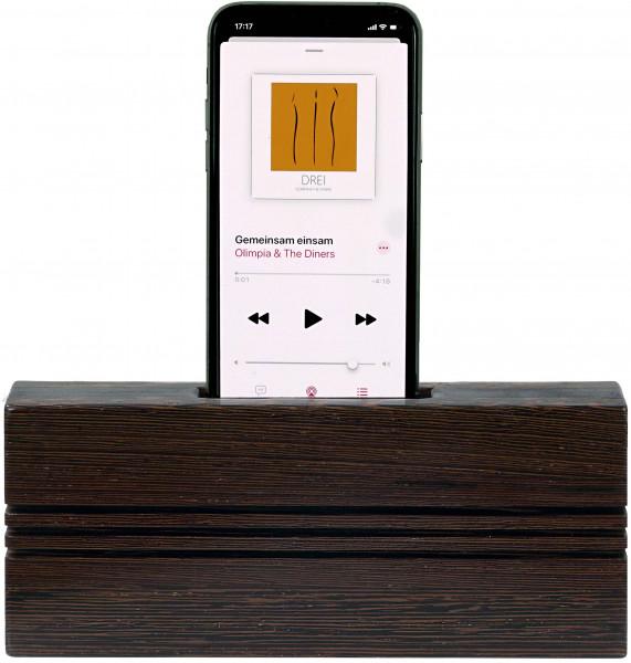 TPU-WG Smartphone Akustik Lautsprecher - upright Wenge